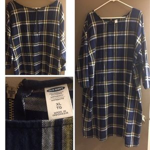 Maternity flannel dress