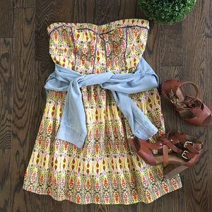 Flying Tomato Dresses & Skirts - Flying Tomato Strapless Cotton Sun Dress