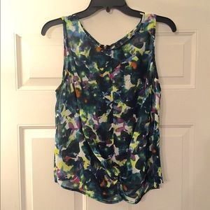 Petticoat Alley Full Zipper Back Colored Blouse 