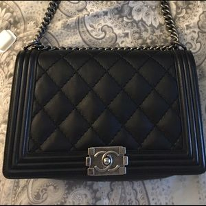 100% authentic Chanel medium boy bag