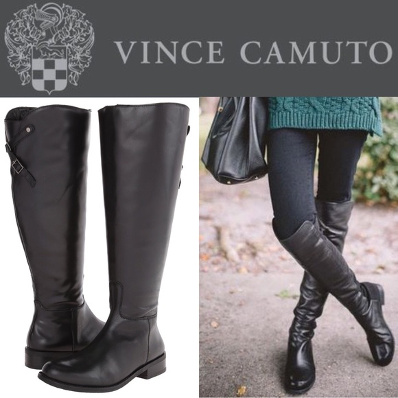 53% off Vince Camuto Shoes - HP🎉 Vince Camuto wide calf Kadia blk ...