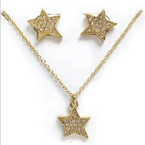 kate spade Jewelry - New Kate Spade Earrings and Pendant Set in Gold!!