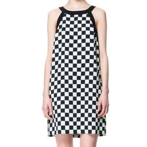 Zara Dresses & Skirts - Checkered Printed Dress with Pockets