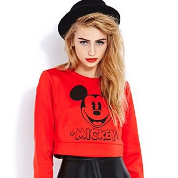 b9dfb69ca07 Forever 21 Tops - Forever 21 Exclusive Mickey   Co. Crop Sweatshirt