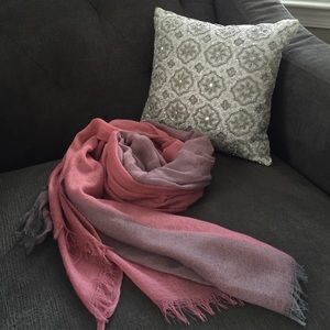 Pink and Grey ombré scarf