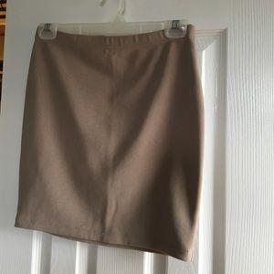 Khaki forever 21 medium skirt