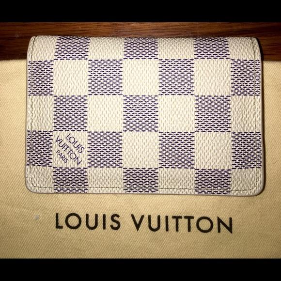 3c5772ddfa59 Louis Vuitton Handbags - Louis Vuitton Card Holder Wallet in Damier Azur