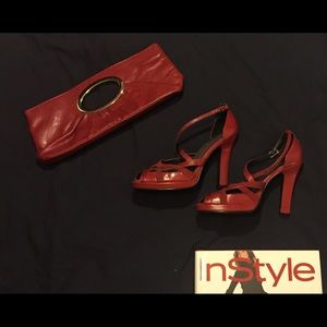 Chinese laundry red heels size 8