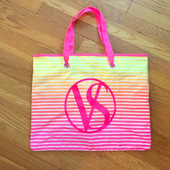 88% off Victoria's Secret Handbags - Victoria's Secret neon beach ...