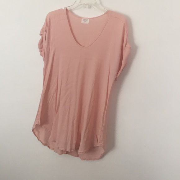 73% off sienna sky Tops - Sienna Sky blush pink shirt size Large ...