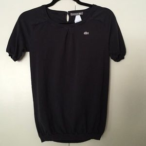 Navy Short Sleeve Lacoste Thin Sweater
