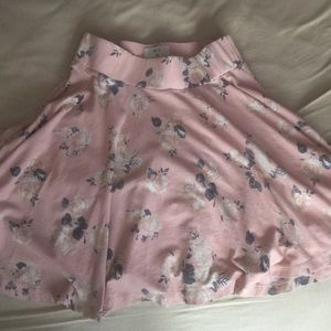 Pale Pink Floral Urban Outfitters Skirt