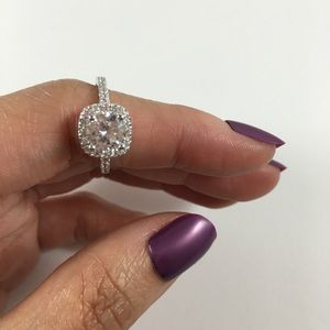 Jewelry - Engagement Ring Sterling Silver CZ Round Cut