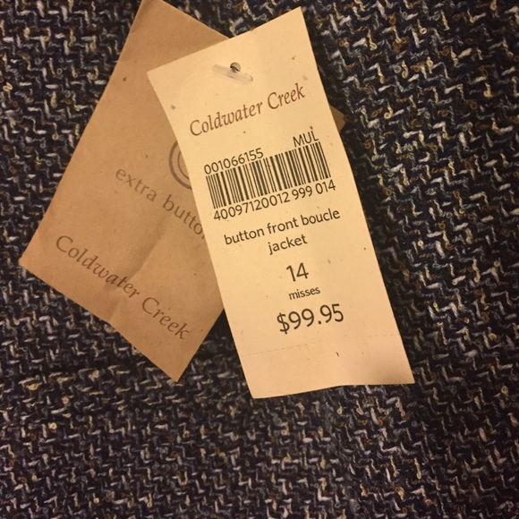 Coldwater Creek Jackets & Coats - 👀 sale!  25$. NWT Coldwater Creek blazer size 14.