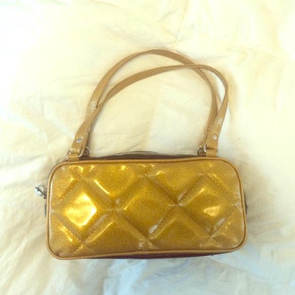 83% off Trophy Queen Handbags - SALE!! Trophy Queen glitter gold ...