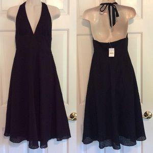 J. Crew Dresses & Skirts - Beautiful black cotton J. Crew halter midi dress
