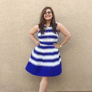 MILLY Dresses & Skirts - MILLY for Kohls striped fit and flare dress