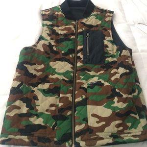 301960b25510d HUF Jackets & Coats   Reversible Vest   Poshmark