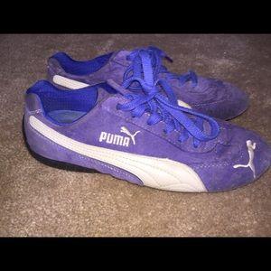 Royal Blue Puma Speed Cats! Size 7.5. EUC!