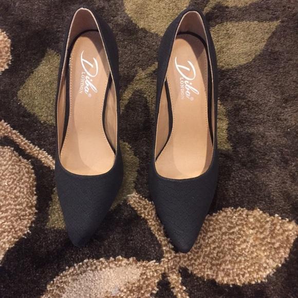 5de1ece1761 Diba London dark gray/black heels