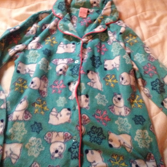 Copper Key - Girls Fleece-y button up pajama shirt from Wendy's ...