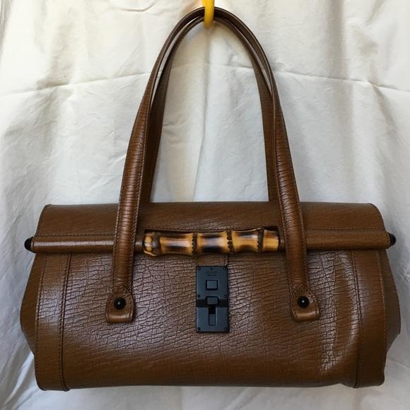 e98b1a57709 Gucci Handbags - 🕶FLASH SALE🕶Gucci Bullet Bamboo Satchel Leather
