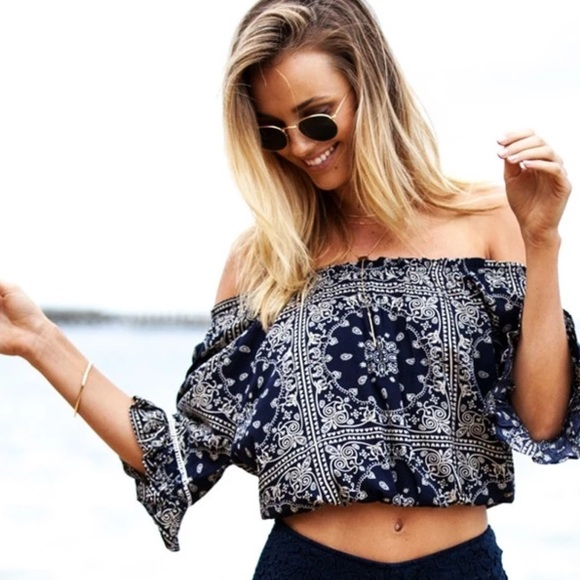 Tops - HOST PICK!  Off Shoulder Sexy Ruffled Summer Beach