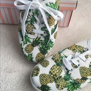 Wild Diva Shoes - Pineapple print sneakers