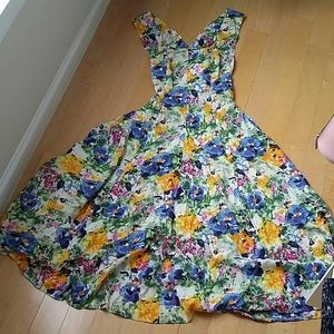 The Limited floral maxi dress