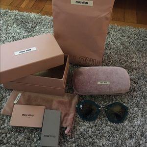 Miu Miu Accessories - 💕auth Miu Miu suede sunglasses