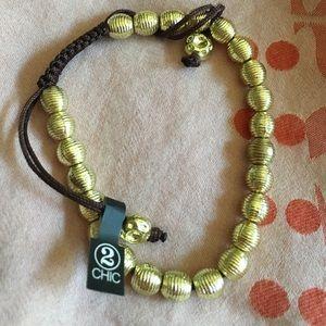 2 Chic gold beaded bracelet
