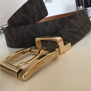 Michael Kors brown and gold belt