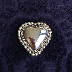 Sterling Silver Heart Brooch