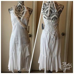 Scully Dresses & Skirts - White Halter top dress