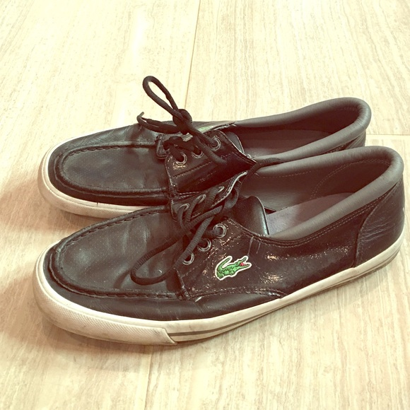 2c3d4bf129 Lacoste Leather Boat Shoes