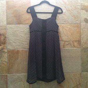 Manoush size small navy swiss dot dress