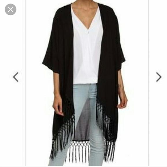 Cotton On - Cotton On black fringe hem kimono cardigan from Lety's ...