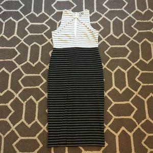 ASOS Striped Pencil Dress Black White Size 4