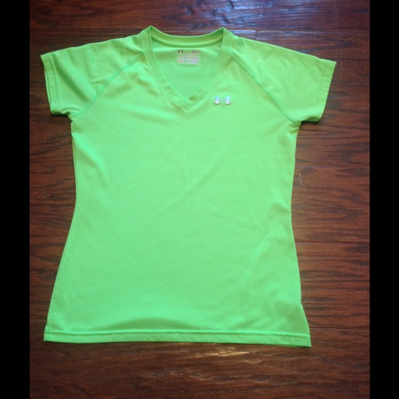 98 off under armour tops under armour dri fit lime