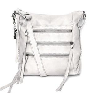 Lucky Brand White Leather Shannon Crossbody- New