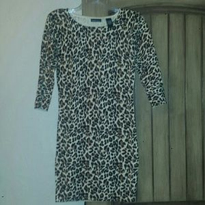 Moda International Dresses & Skirts - Victoria Secret Leopard print sweater dress