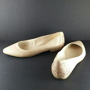 New Nine West nude flats with Crystal details 6