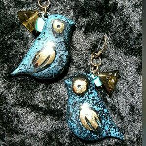 Jewelry - Blue Bird Earrings