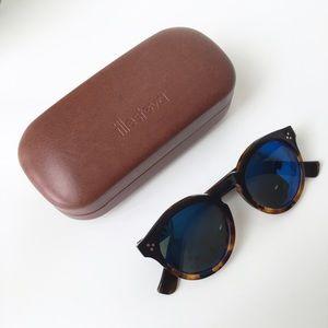 Illesteva Leonard2 Half & Half Mirrored Sunglasses