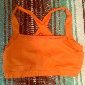 TKO Other - Orange spandex sports bra