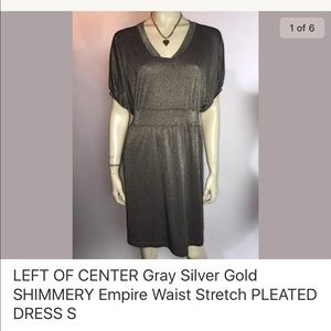 Shimmery casual dress! Semi pleated S