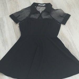 ROMWE Dresses & Skirts - Romwe black mesh dress size small!!