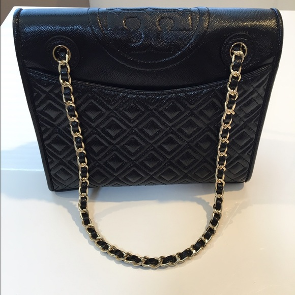 a861c9658cd Tory Burch Fleming Medium Bag - Black Patent. M_578c202cf739bc5bf50121a1