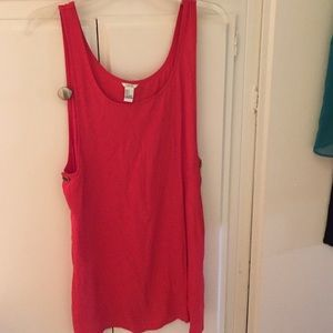 Coral colored tunic top