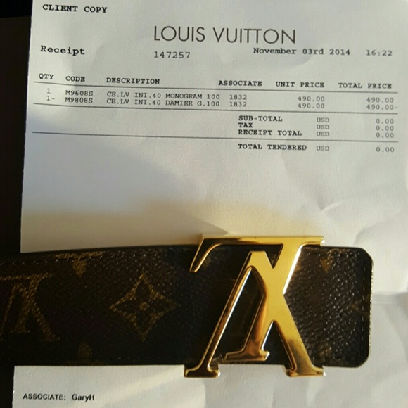 4c591ad212a1 Louis Vuitton Other - Mens louis vuitton belt size 40 (Belt on hold )